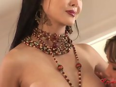 Asian harem of a female lesbian choreograph intercourse